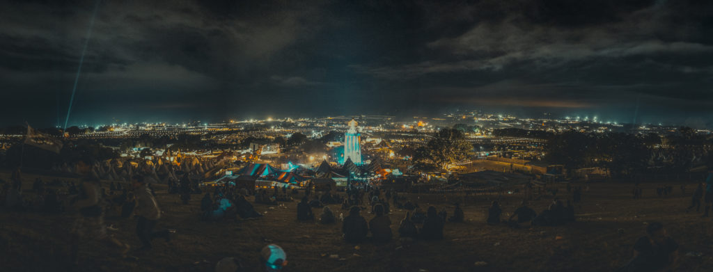 Glastonbury Festival Panorama